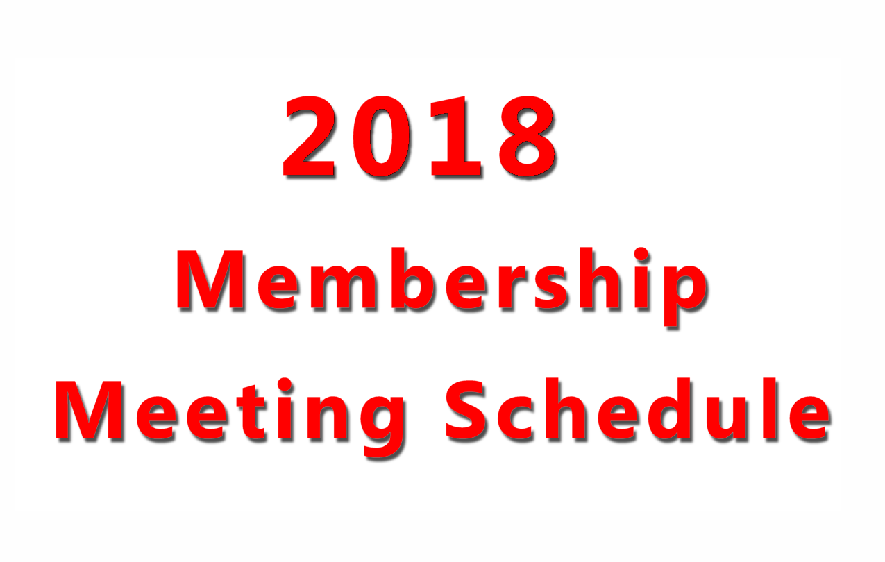 2018 meeting schedule